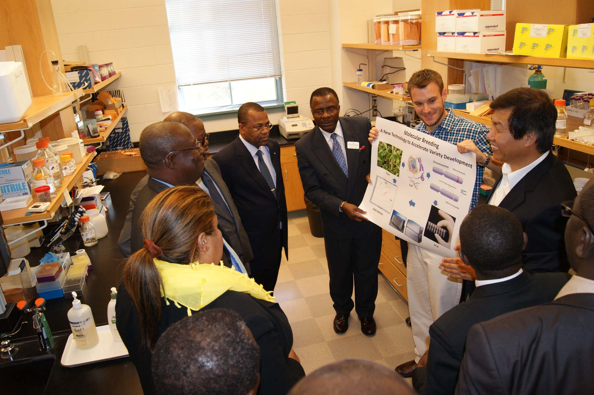 A delegation of representatives from the Gabonese Ministry of Agriculture, Livestock Fisheries and Rural Development toured some of the highlights of Georgia's ag industry in November.