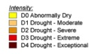Drought is classified into four levels: moderate (D1,) severe (D2,) extreme (D3) and exceptional (D4) drought. A few areas in central Georgia have been experiencing extreme drought — the second most serious category of drought — continuously since May 2011.