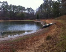 Farm pond in Coweta County on December 11, 2012 (courtesy C. McGehee, National Weather Service)