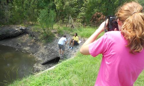 Chatham County 4-H'ers film video public service announcement.