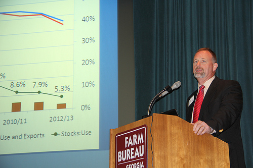 Ag Forecast 2013 - Macon - Georgia Farm Bureau Headquarters - UGA College of Ag. & Env. Sciences-Extension Ag Economist Curt Lacy -