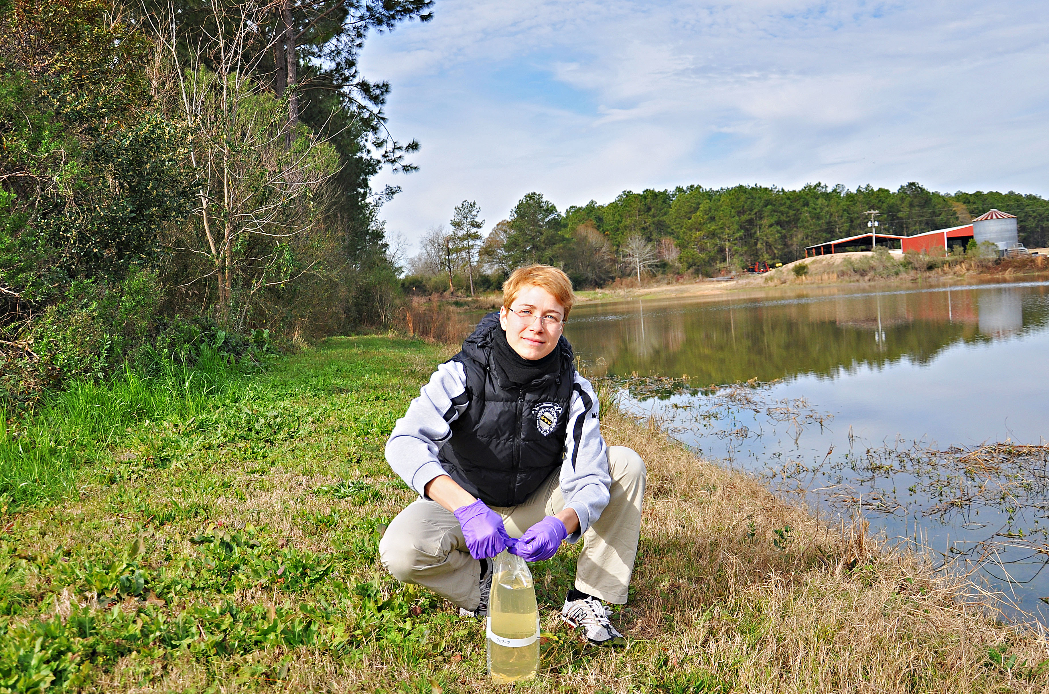 Camilla Borgato, a University of Padova currently working at UGA's Tifton Campus, is studying sampling strategies to track food borne pathogens in irrigation water. She's studying in the United States through the Trans Atlantic Precision Agricultural Consortium.