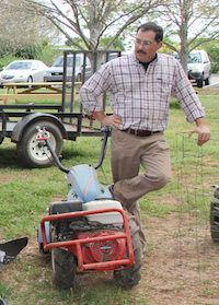 An up-coming UGA Griffin campus gardening workshop will cover several topics including equipment selection. UGA Extension horticulturist Bob Westerfield is shown displaying several helpful gardening tools.