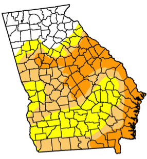 February's rains helped end drought conditions in much of Georgia.