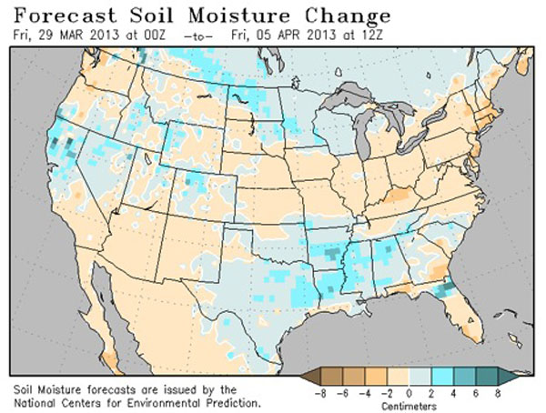 Soil moisture levels in Georgia have not been so high since September 2010.