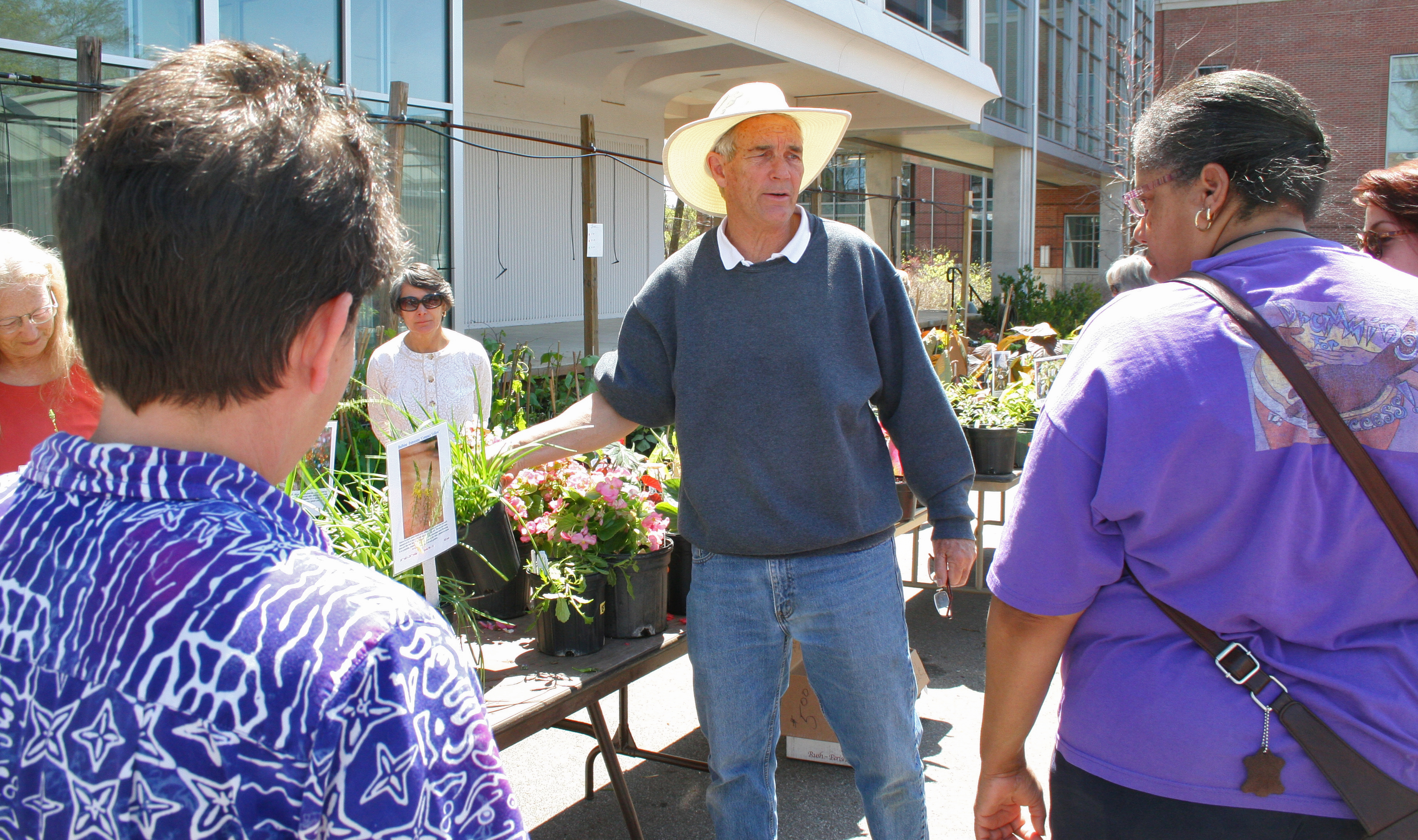 Dr. Allan Armitage, author and UGA horticulturalist, Introduces gardeners to this year's must have plants at the Trial Gardens at the University of Georgia's annual Plantapalooza plant sale in April.