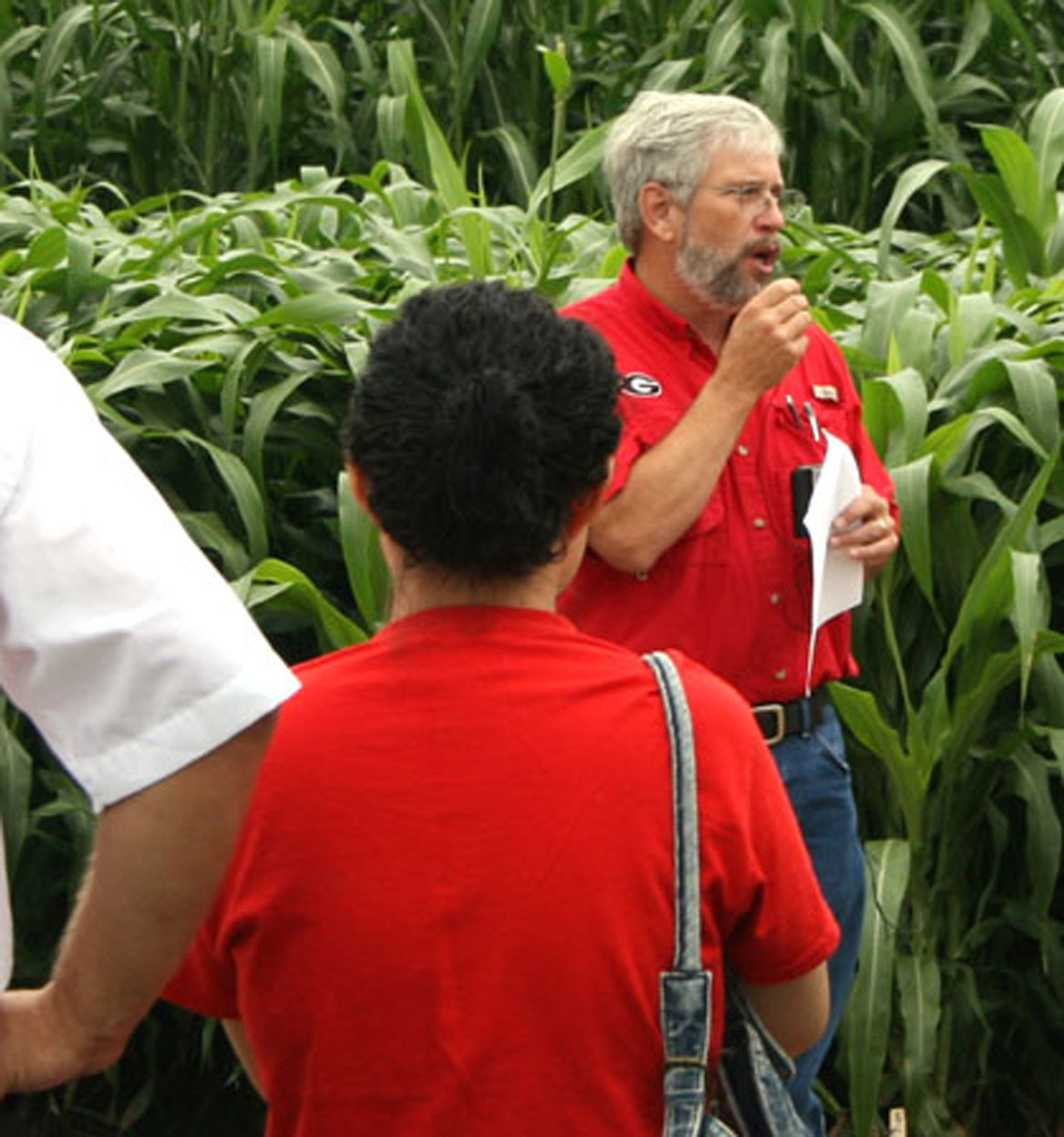 John Bernard, a University of Georgia College of Agricultural and Environmental Sciences professor of animal and dairy science on the Tifton campus, talks during the Corn Silage and Forage Field Day last week.