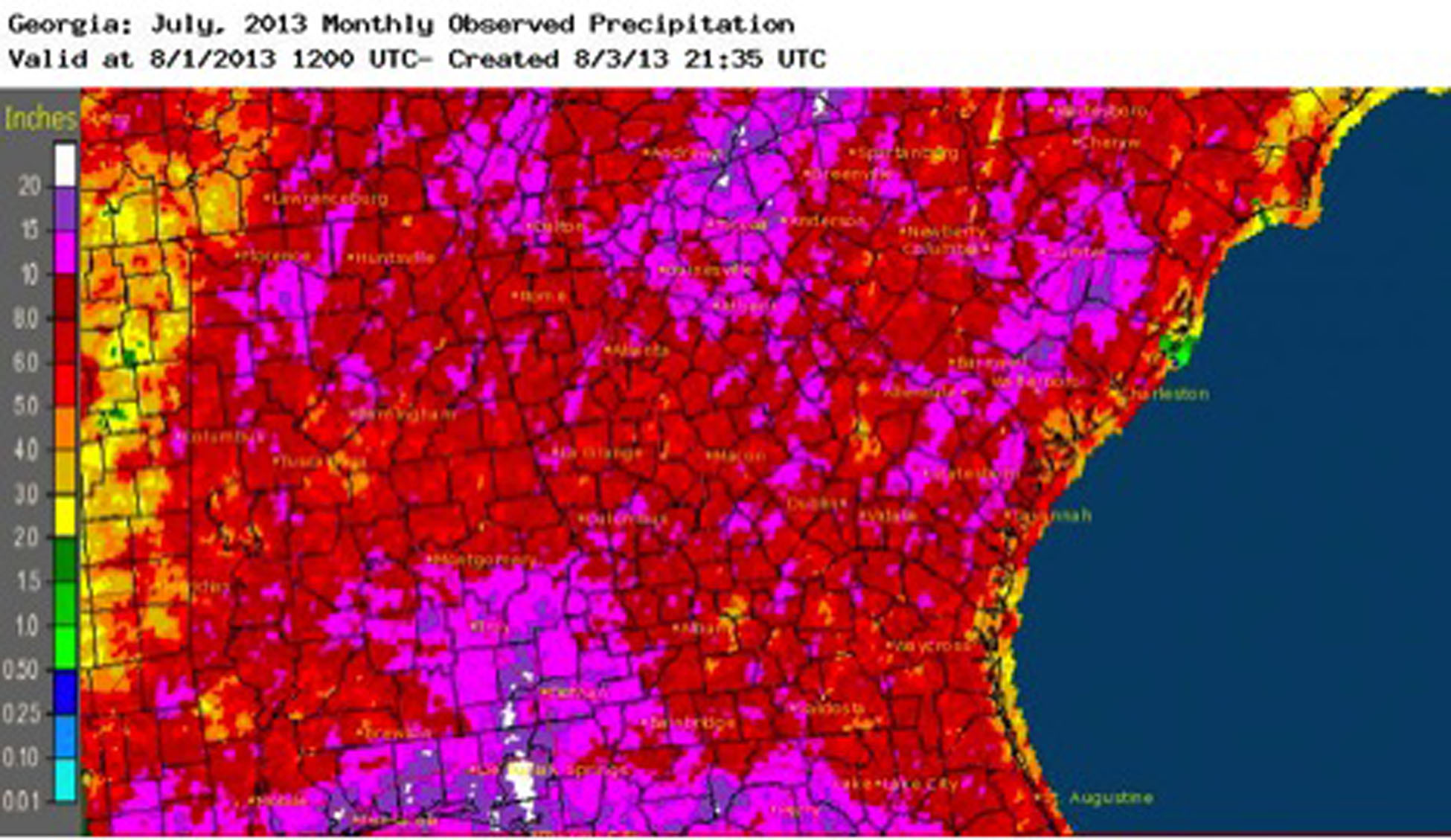 July 2013 Precip Totals