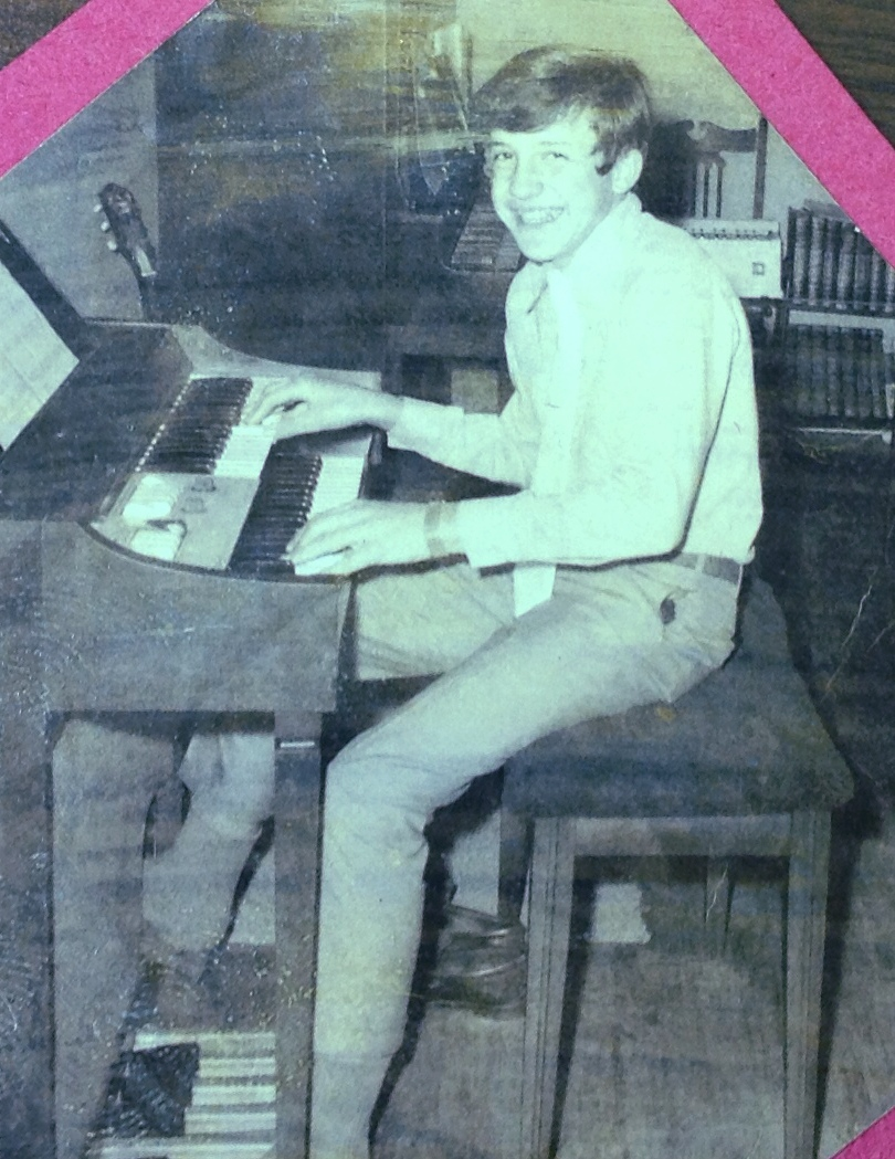 Bo Ryles is shown playing the organ when he was a ninth grade 4-H'er.