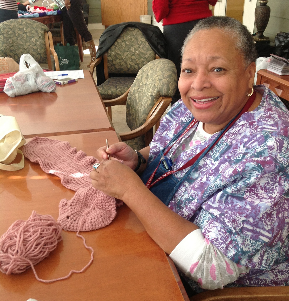 Fairby Brooks, 76, is a member of the Happy Crocheters craft class offered two days a week by the Rockdale County Extension Office. Brooks and the other ladies say the class has helped them learn to crochet and created a group of friends, too.