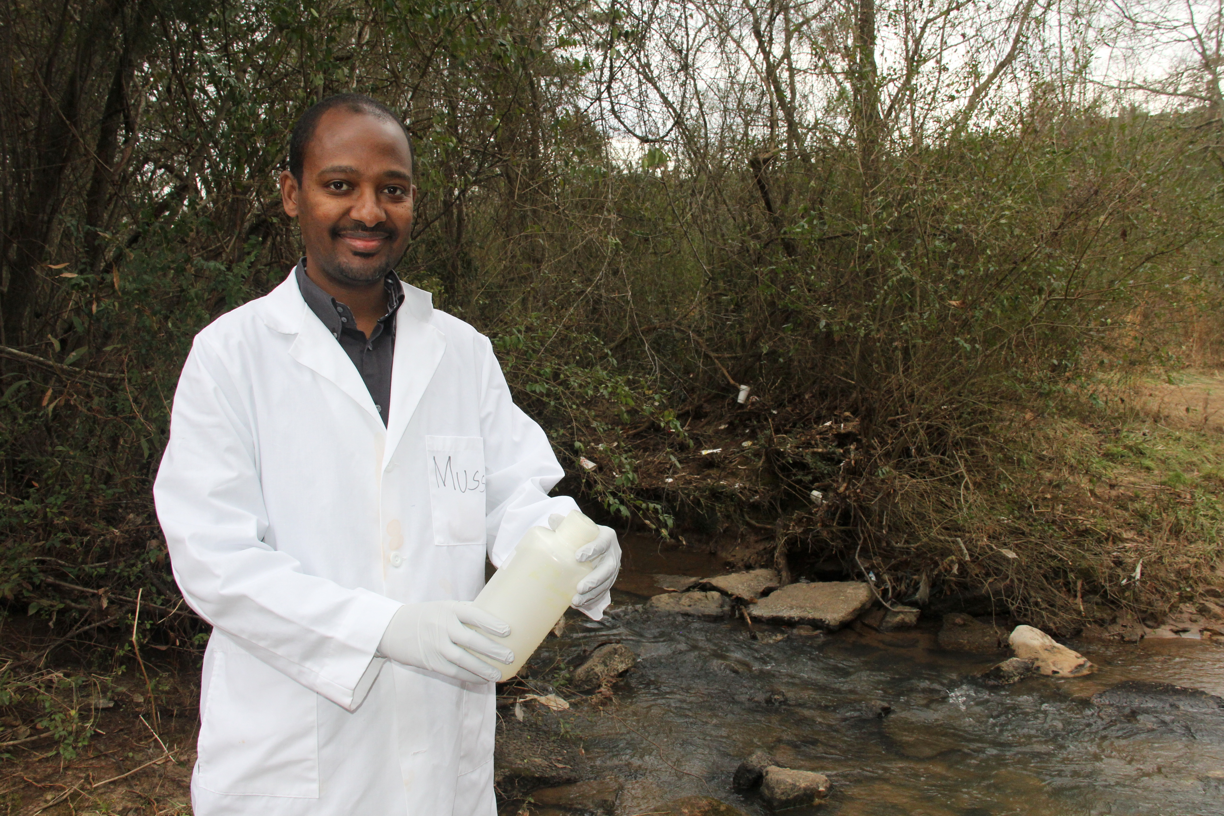 University of Georgia scientist Mussie Habteselassie is studying the affect of septic systems on water quality and quantity in the Metro Atlanta area.