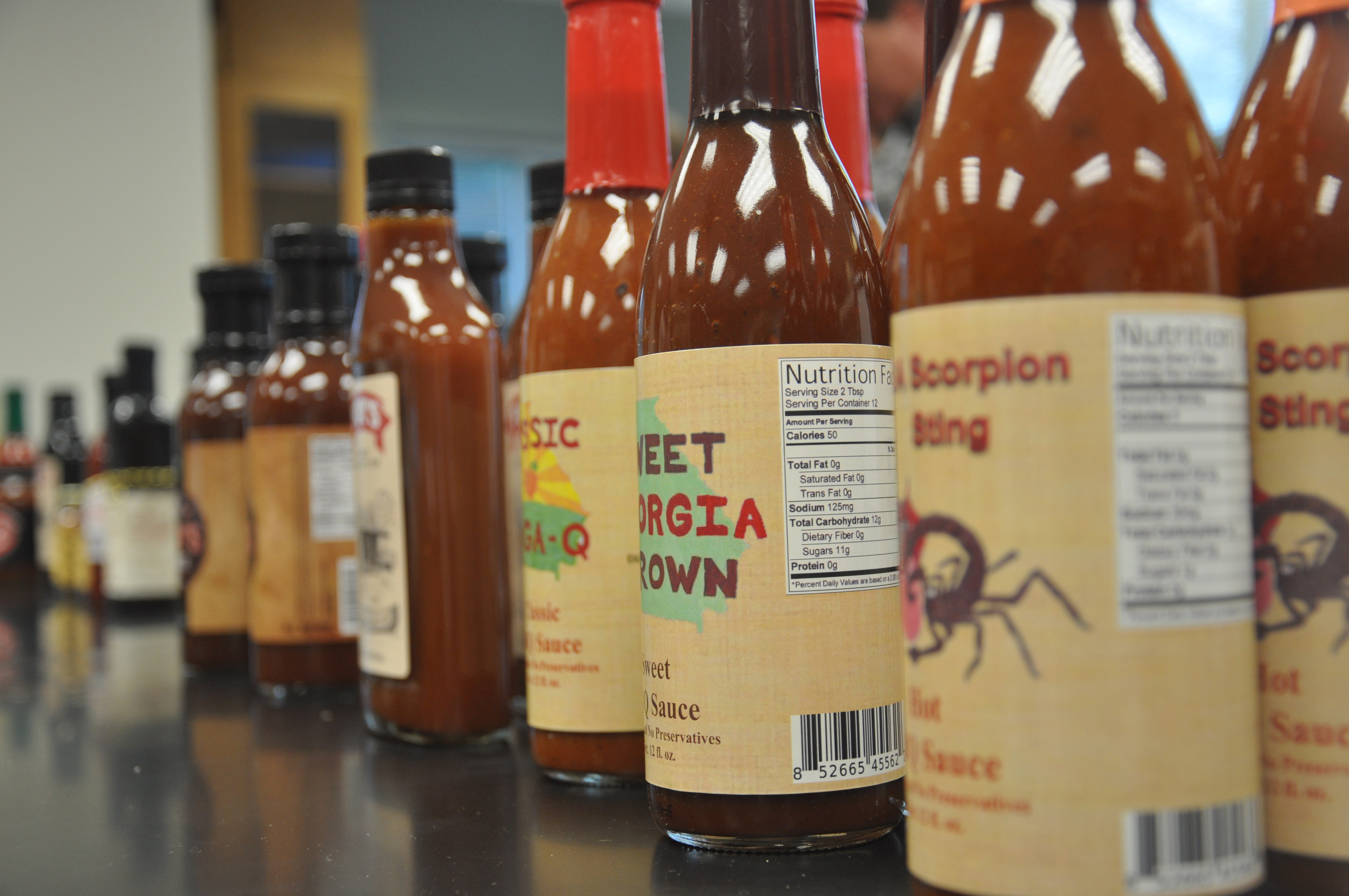 More than 20 barbecue sauces alone were submitted to the 2014 Flavor of Georgia Food Product Contest. This year saw the largest number of entries in the contest's seven year history.