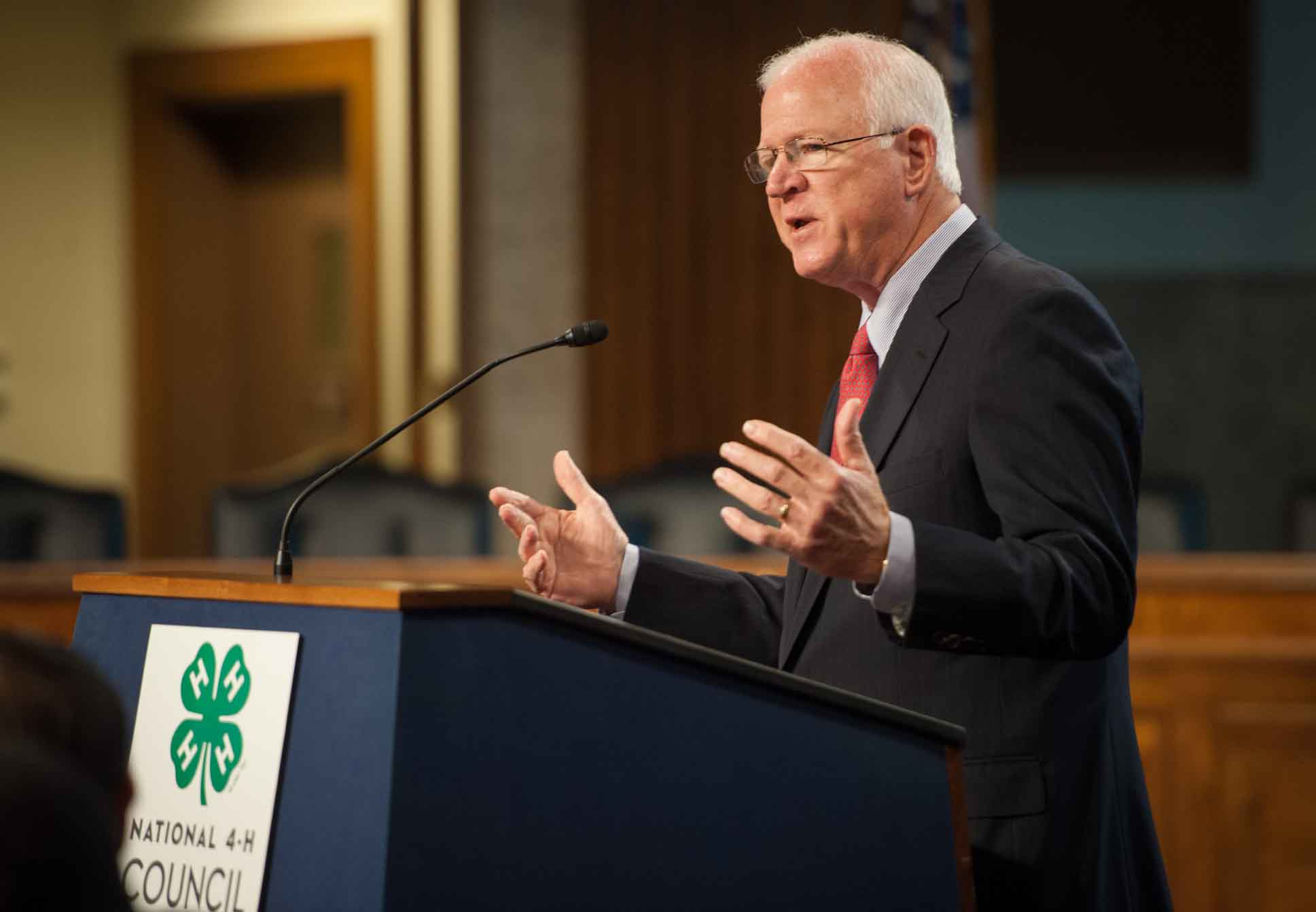 Sen. Saxby Chambliss speaks at the National 4-H Council Breakfast on April 9 in Washington D.C.