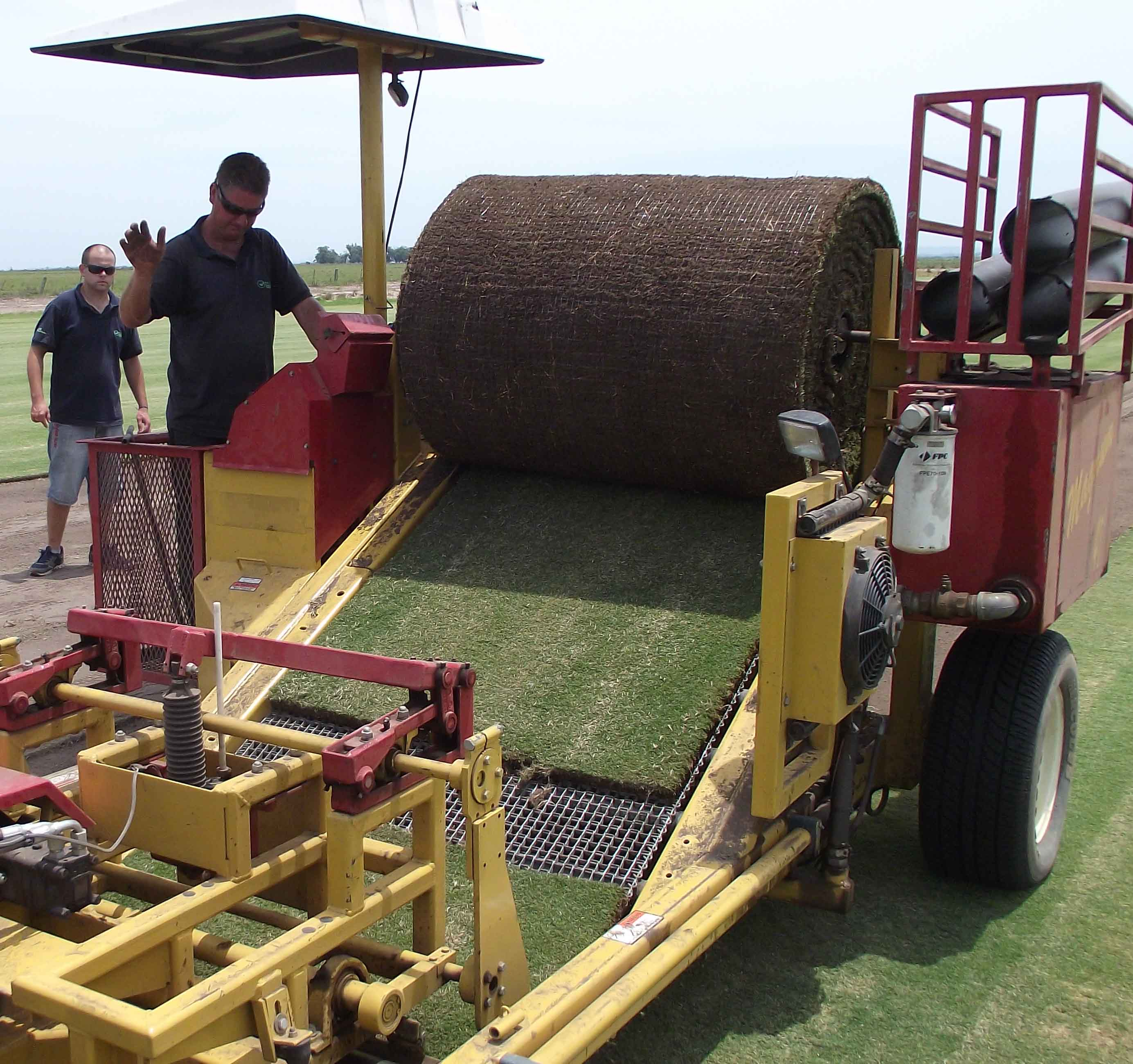 Sod cutters with Green Grass sod farm in Brazil prepared rolls of UGA-licensed TifGrand for use at three World Cup Stadiums in Brazil this week.  TifGrand was bred by UGA/USDA-ARS plant breeder Wayne Hanna and UGA Entomologist Kris Braman.