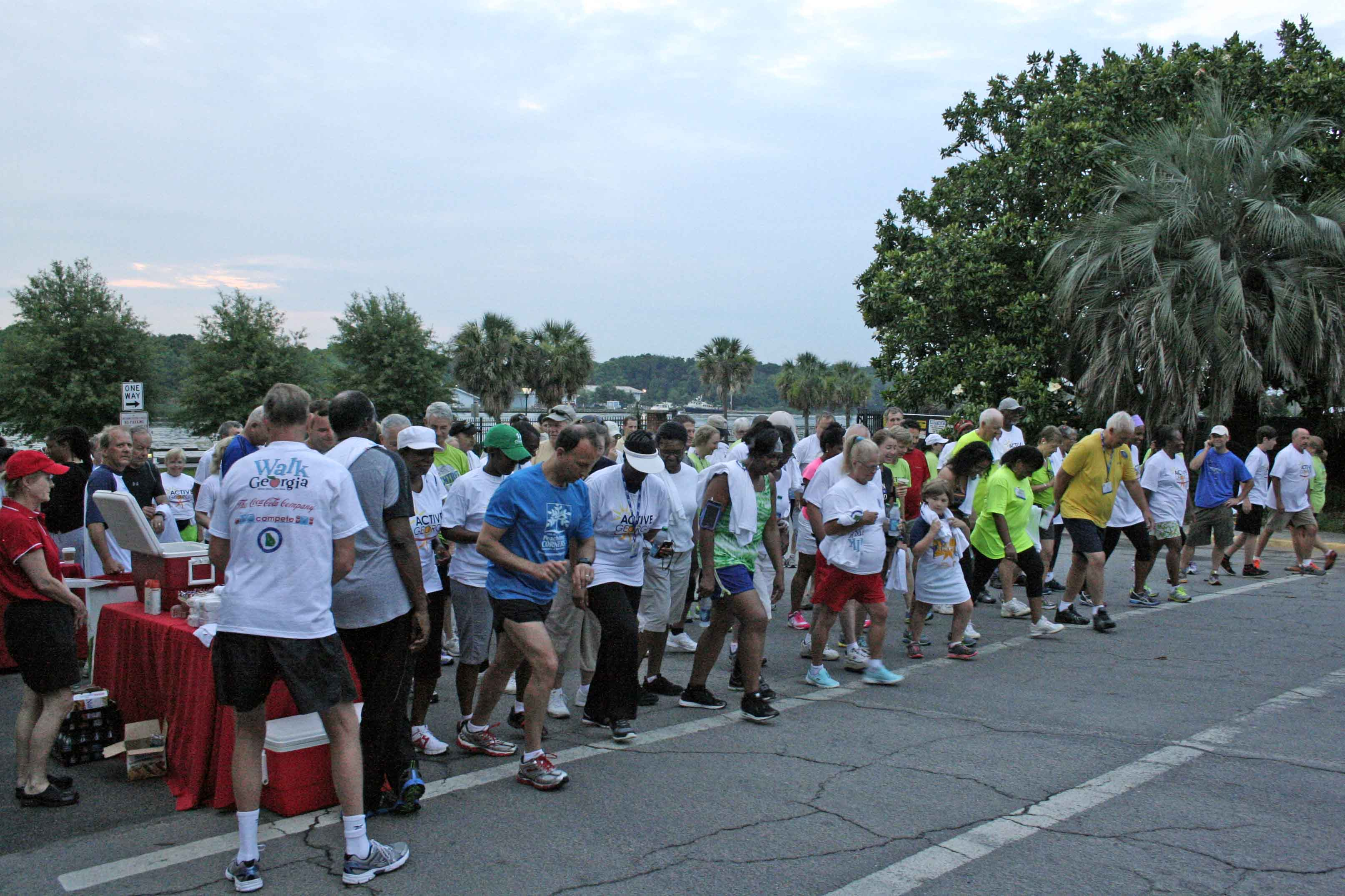 The Georgia Municipal Association's Active Georgia Walk begins on Savannah's River Street early Monday morning, June 23.