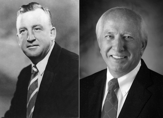 Georgia Ag Hall of Fame 2014 inductees - Herb Bennett (left) and Ben Copeland.
