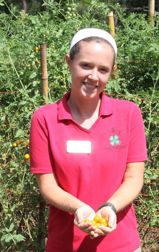 Laura Kent in garden