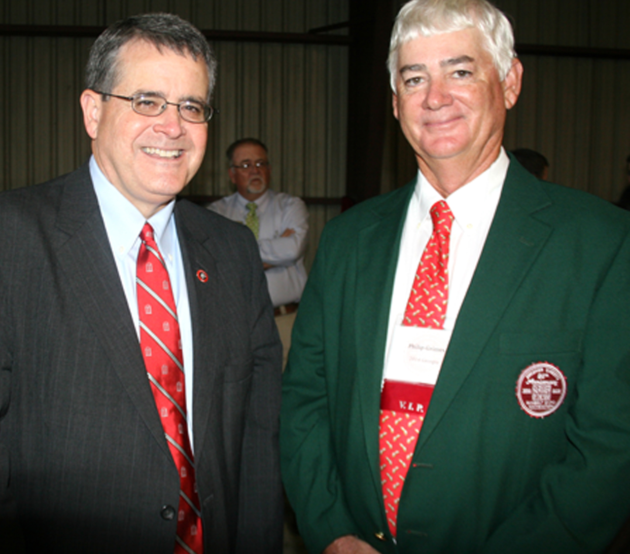 Philip Grimes is pictured with University of Georgia President Jere Morehead.