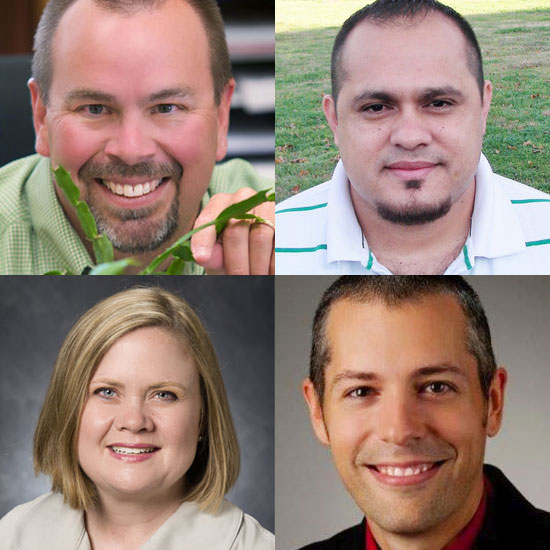 Four University of Georgia Extension agents worked together to present Green University, a training for professionals in the green industry. The agents were (top, l-r) Keith Mickler, Rolando Orellana, (bottom, l-r) Mary Carol Sheffield and Paul Pugliese.