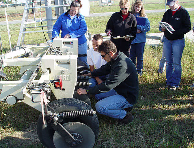 Pictured is George Vellidis in one of his introductory precision ag classes from previous years on the UGA Tifton Campus.