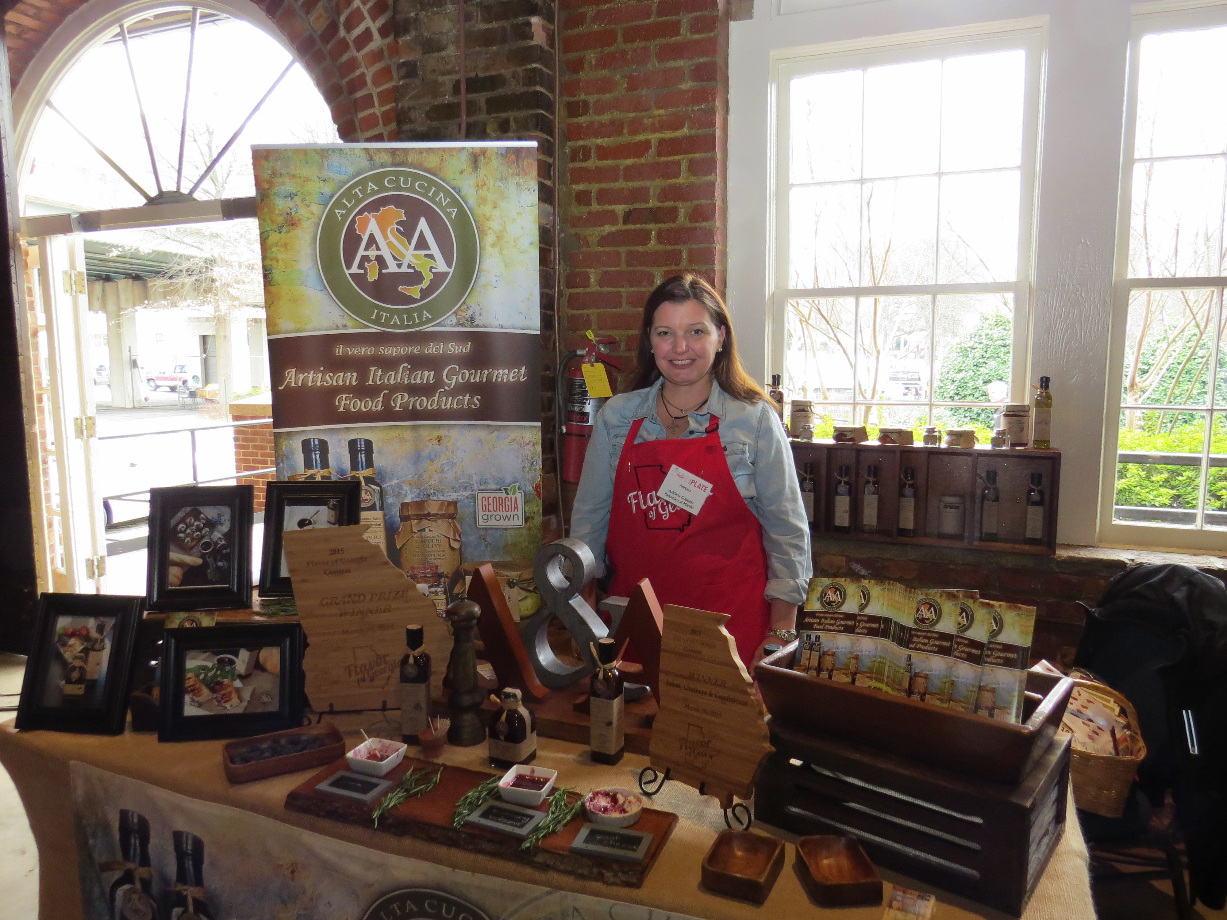 Adriana Coppola, a native Italian now living in Johns Creek, won the grand prize in the University of Georgia's 2015 Flavor of Georgia Food Product Contest with her A&A Alta Cucina Italia Balsamico al Mirtillo, a blueberry balsamic vinegar reduction.