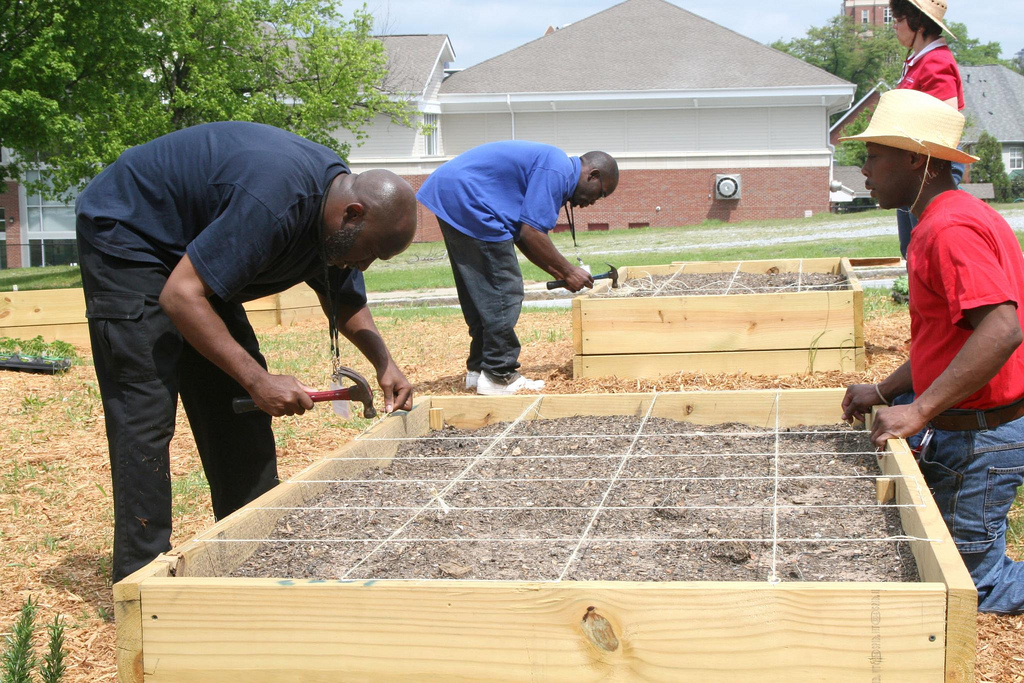 Gardens should be designed to accommodate the gardener. For example, raised gardens are an option for gardeners who don't have access to a rototiller or aren't physically able to operate one.