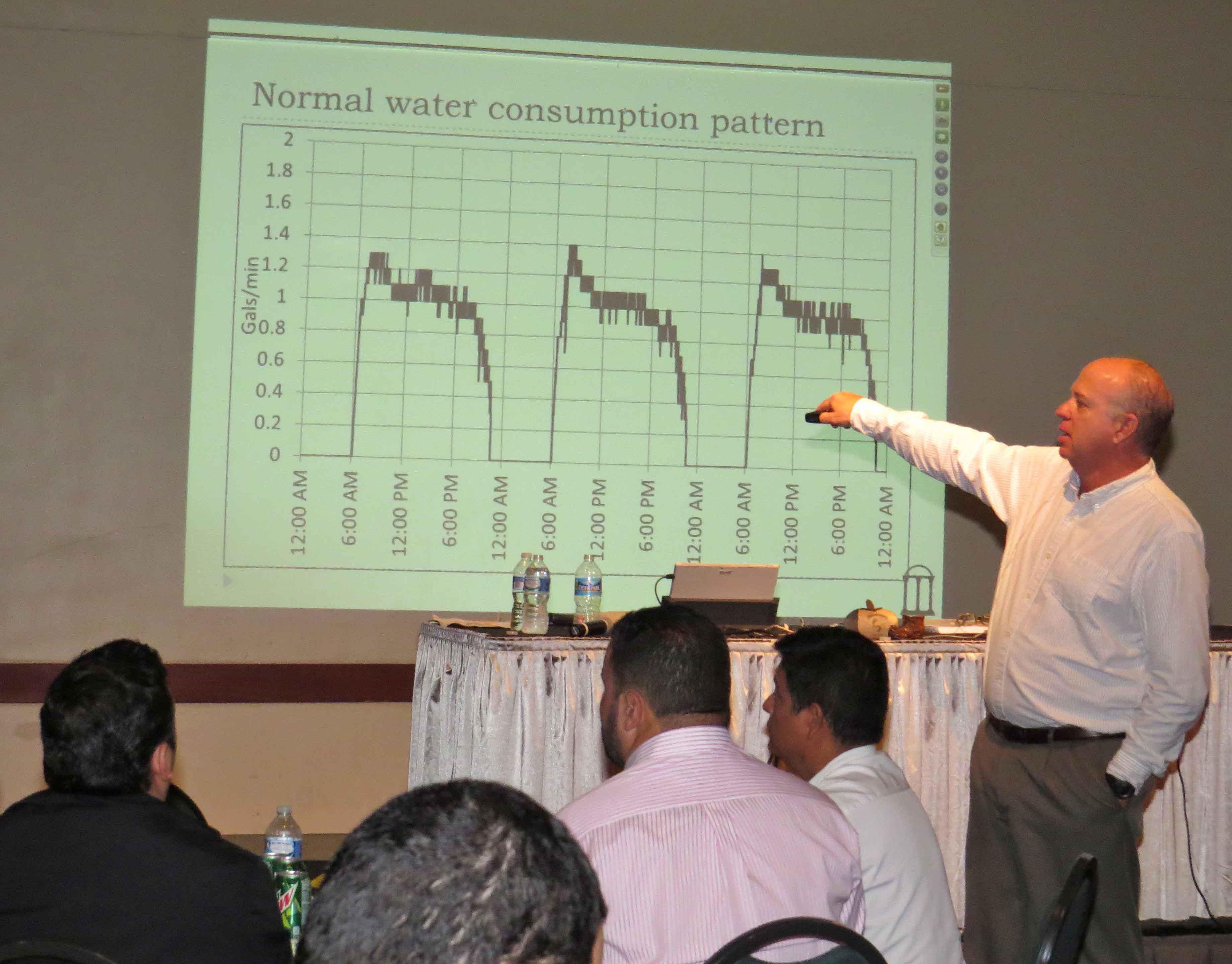 UGA Extension poultry housing expert Mike Czarick speaks to a full house at a recent Poultry House Ventilation Workshop.