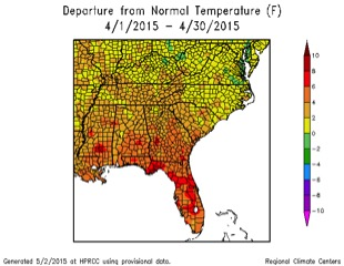 april temperature