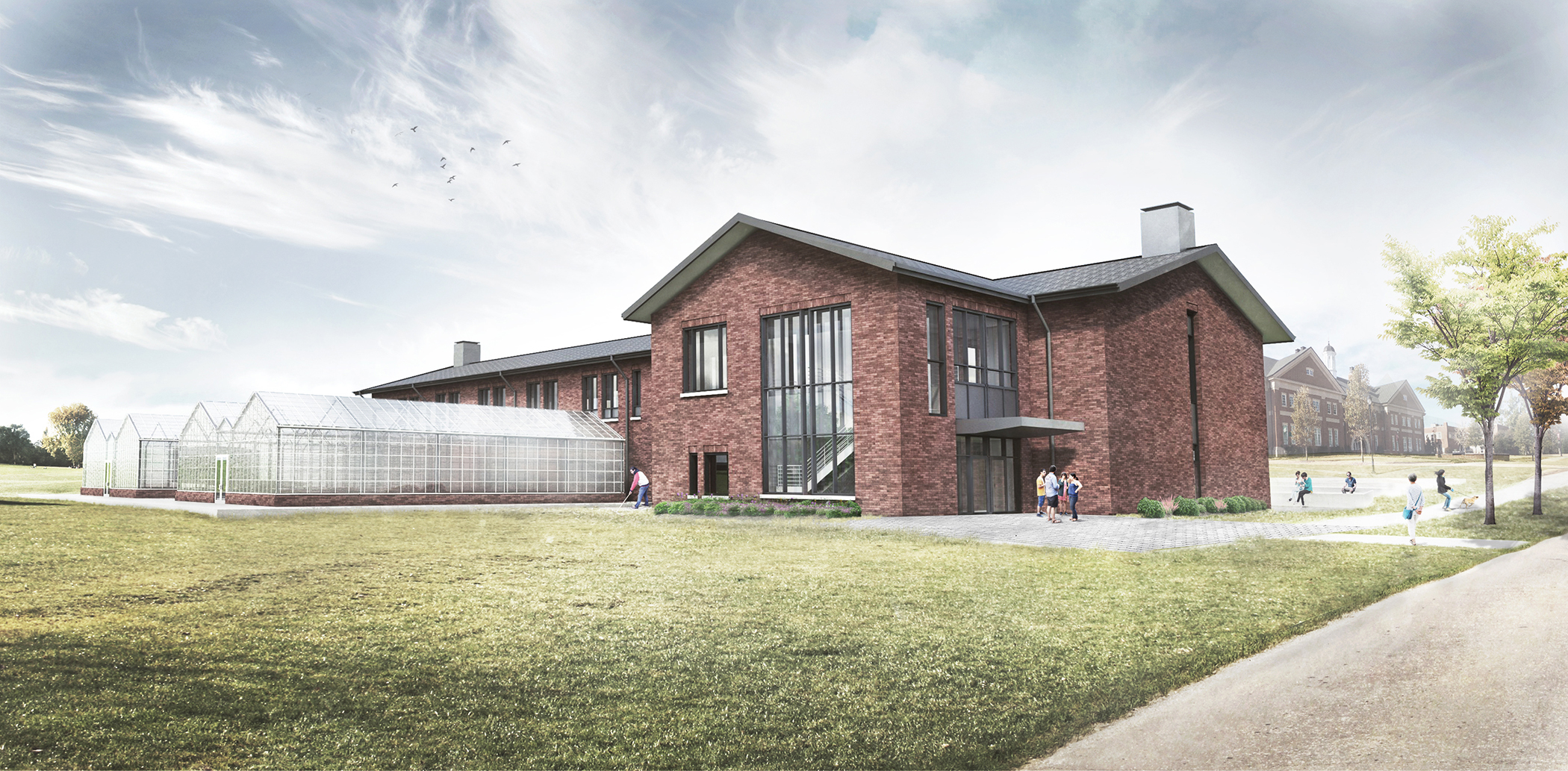 UGA's new turfgrass research facility in Griffin will include modern laboratories, offices, conference and classroom space, greenhouses and a headhouse complex — housing seven turfgrass scientists, their staff, post doctoral research associates, visiting scientists and graduate students.