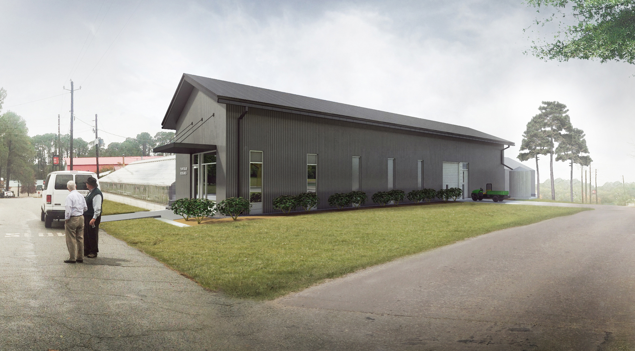 UGA's new turfgrass research facility in Tifton will include new greenhouses and a headhouse to support UGA's expanding warm-season turf breeding program.