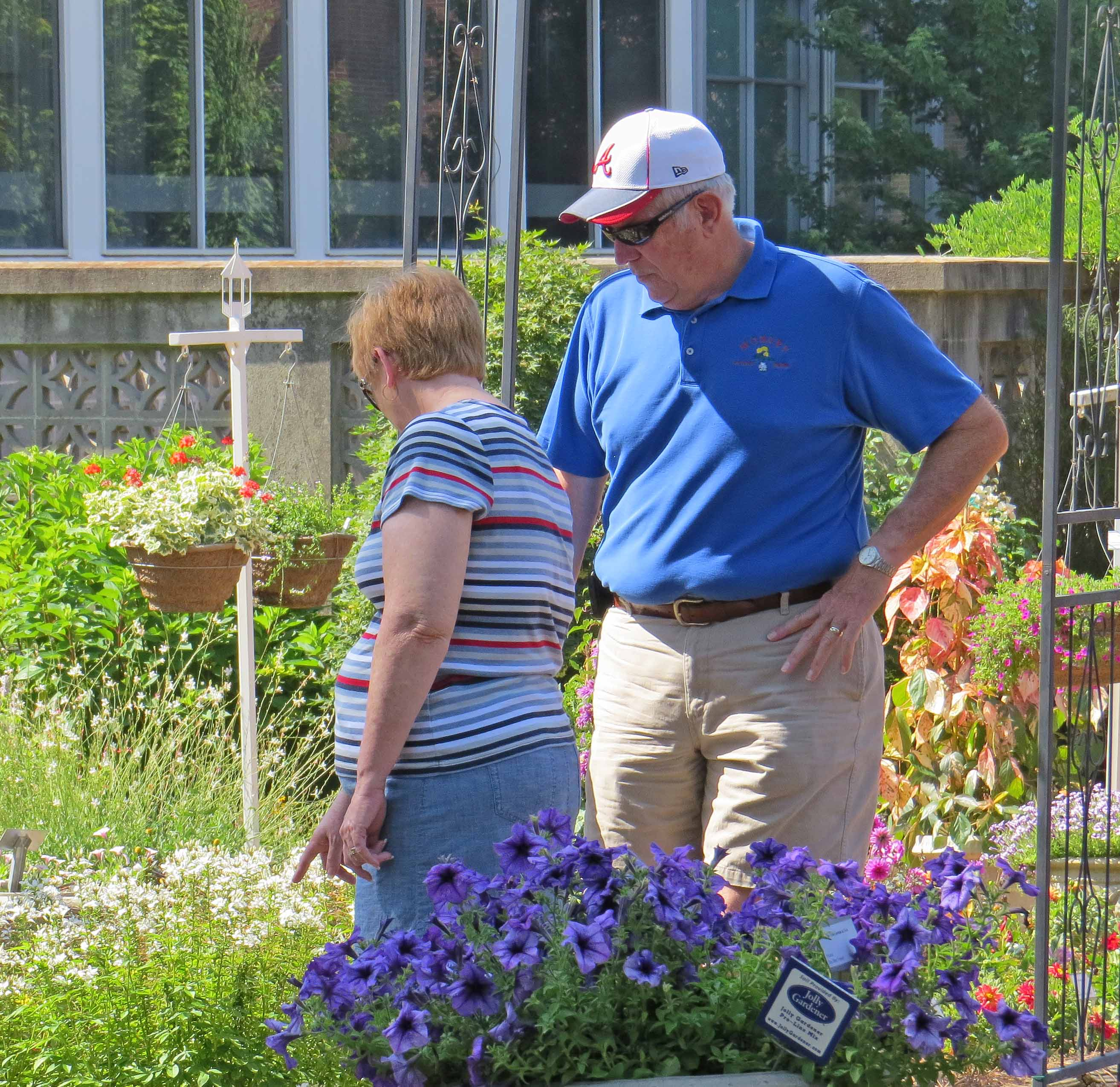 A couple browses this year's collection of annuals at The Trial Gardens at UGA during the industry open house in June. The gardens' staff will be hosting its annual Public Open House on July 18.