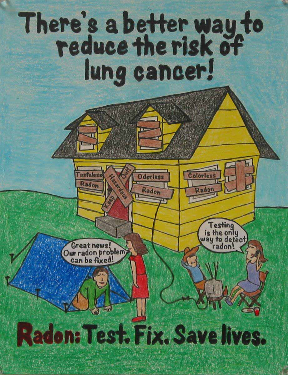 The 2014 UGA Radon Education Program Poster Contest first place entry.