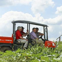 UGA President Jere Morehead tours Jaemor Farms in Alto, Ga., as part of the third annual UGA President's Farm Tour, organized with the Georgia Department of Agriculture and the UGA College of Agricultural and Environmental Sciences.