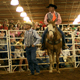 Rodeo referees wait for the next event to begin at the Great Southland Stampede Rodeo.
