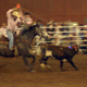 Ropes fly during the calf roping event at the  Great Southland Stampede Rodeo in 2008.