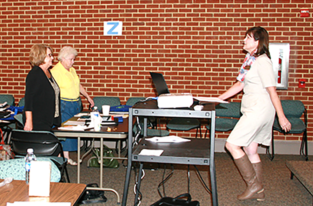 Andrea Scarrow, UGA Extension Southwest District FACS program development coordinator, speaks during an Annie's Project Workshop held in Albany on Tuesday, Sept. 29, 2015.