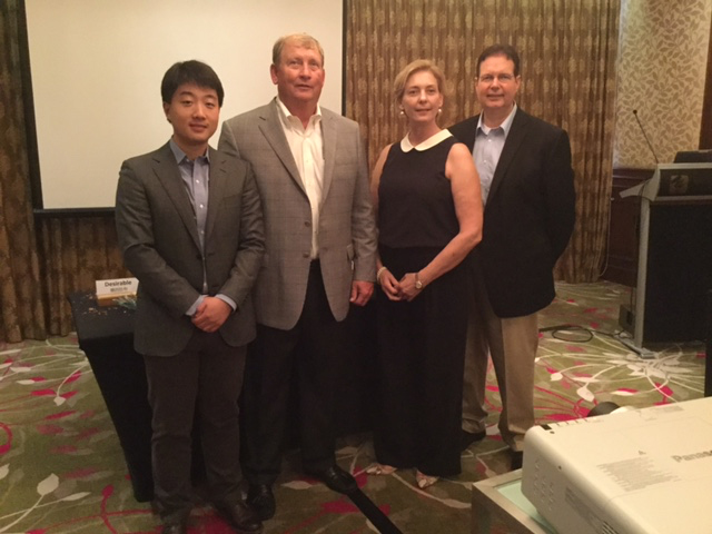UGA PhD candidate Yi Gong (Far Left) and UGA colleagues who attended the Functional Foods, Nutraceuticals, Natural Health Products and Dietary Supplements conference in China. Also shown are: (L-R) Randy Hudson, president of the U.S. Pecan Growers Council;Melinda Meador,director for the Hong Kong Agricultural Trade Office of the USDA Foreign Agricultural Service; Ronald Pegg, Gong's advisor and associate professor in food science.
