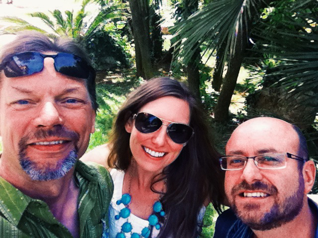 Stephanie Bolton, a doctoral student studying plant pathology,  fursarium experts Gary Munkvold, of the United States, and Emerson Del Ponte, of Brazil, at the European Fusarium Seminar.