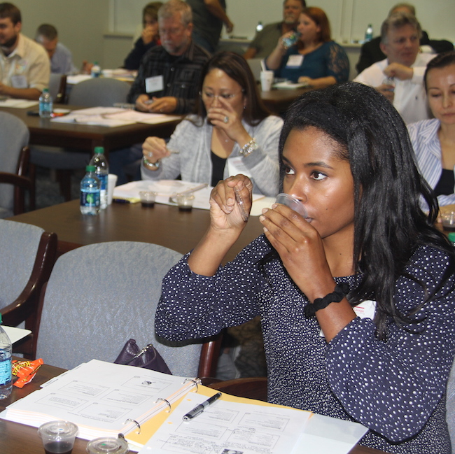 University of Georgia food scientists had participants in a recent workshop taste three brands of worcestershire sauce to demonstrate how one food item can taste different from different manufacturers. Participants in the class were considering or have developed a new food product for the retail market.