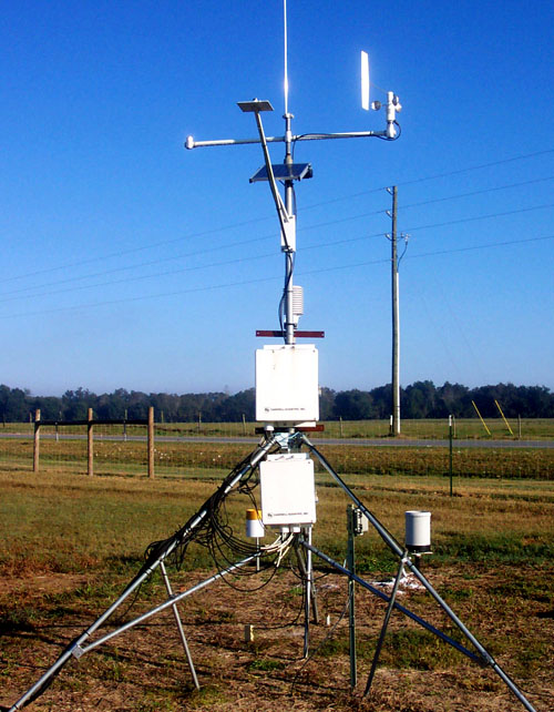 GAEMN weather station on the Stripling Irrigation Park in Camilla, Ga.