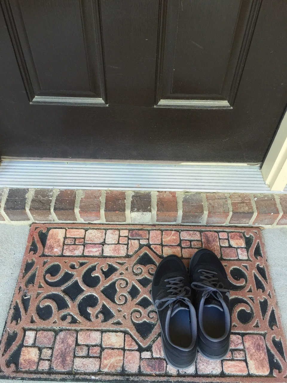University of Georgia Cooperative Extension experts say removing your shoes before going indoors can reduce the amount of pollen you track into your home. Other ways to reduce the amount of pollen indoors include wiping your pets' paws before allowing them to come inside and cleaning floors and surfaces often.