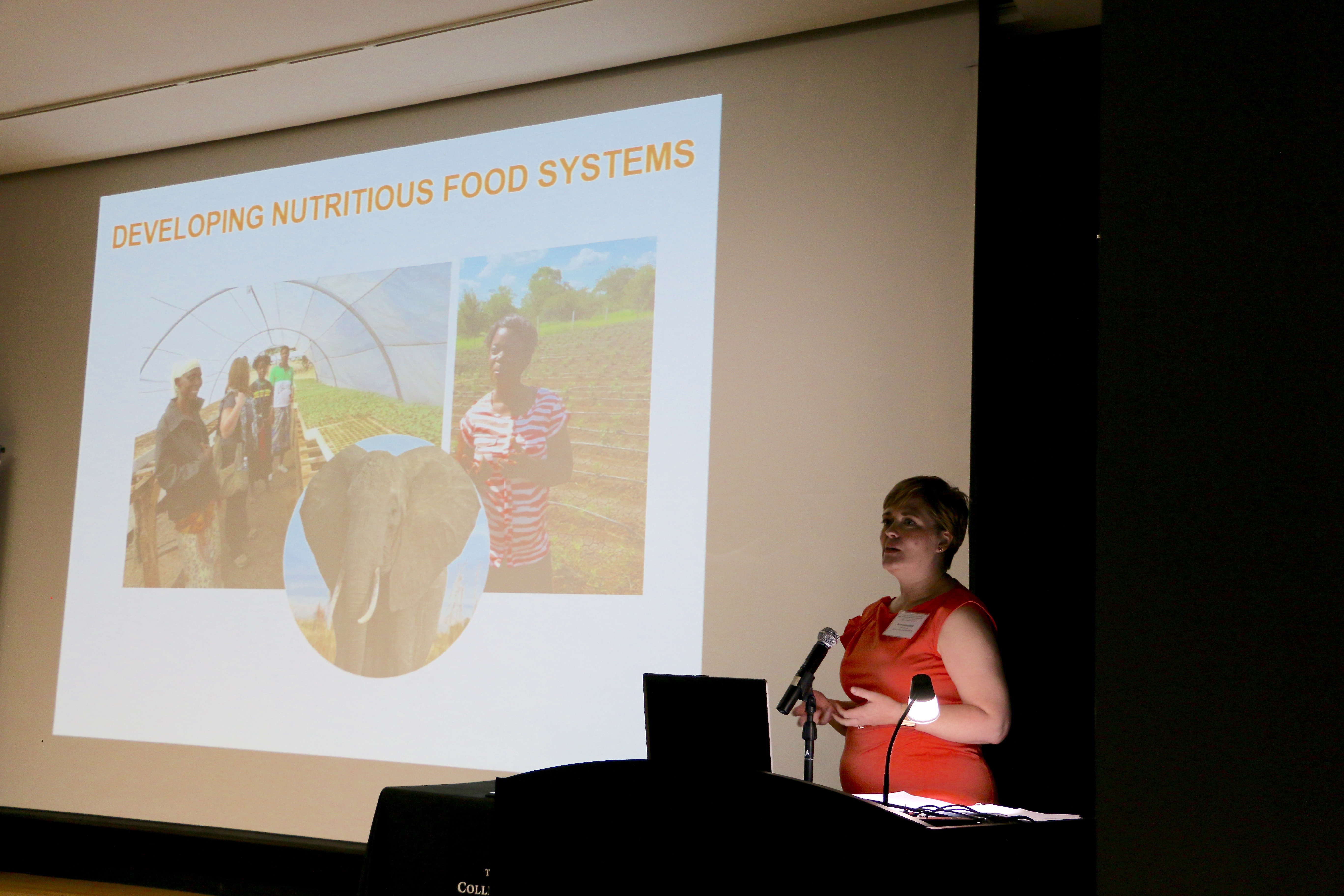 Keynote speaker Ann M. Steensland, deputy director of the Global Harvest Initiative, told students and faculty that successful solutions for feeding the world's hungry have to be created in concert with the farmers and community members on the ground in developing countries and in our own backyard.