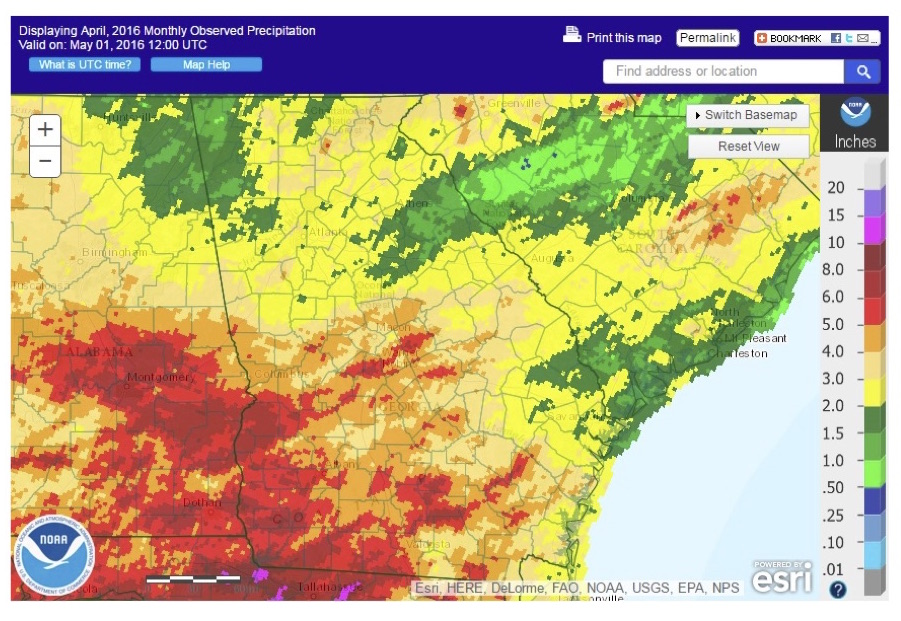 Georgia's April 2016 Precipitation - NOAA