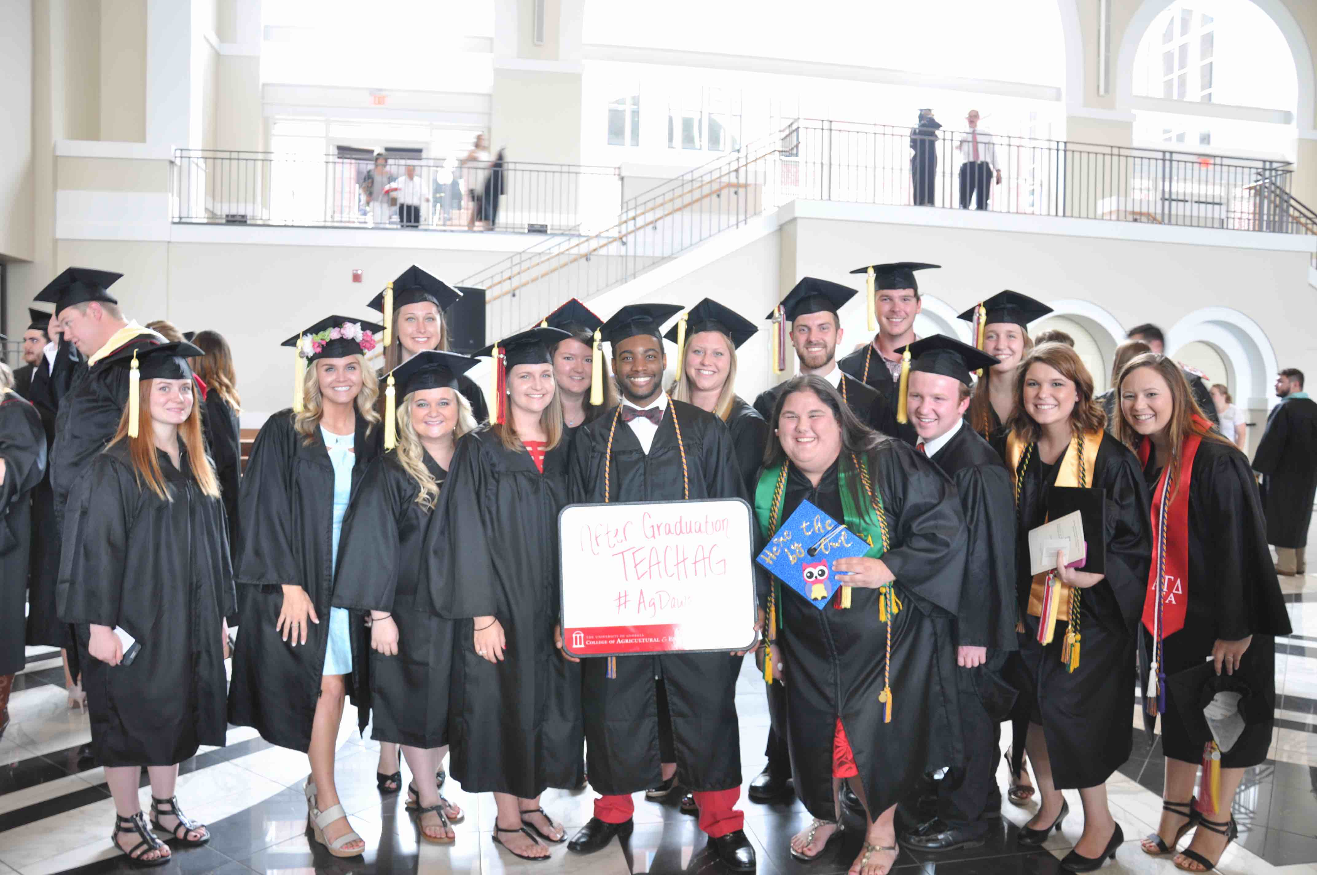 A crowd of Agricultural Education students gather at the Classic Center in downtown Athens on May 12 for the UGA CAES Spring Commencement.