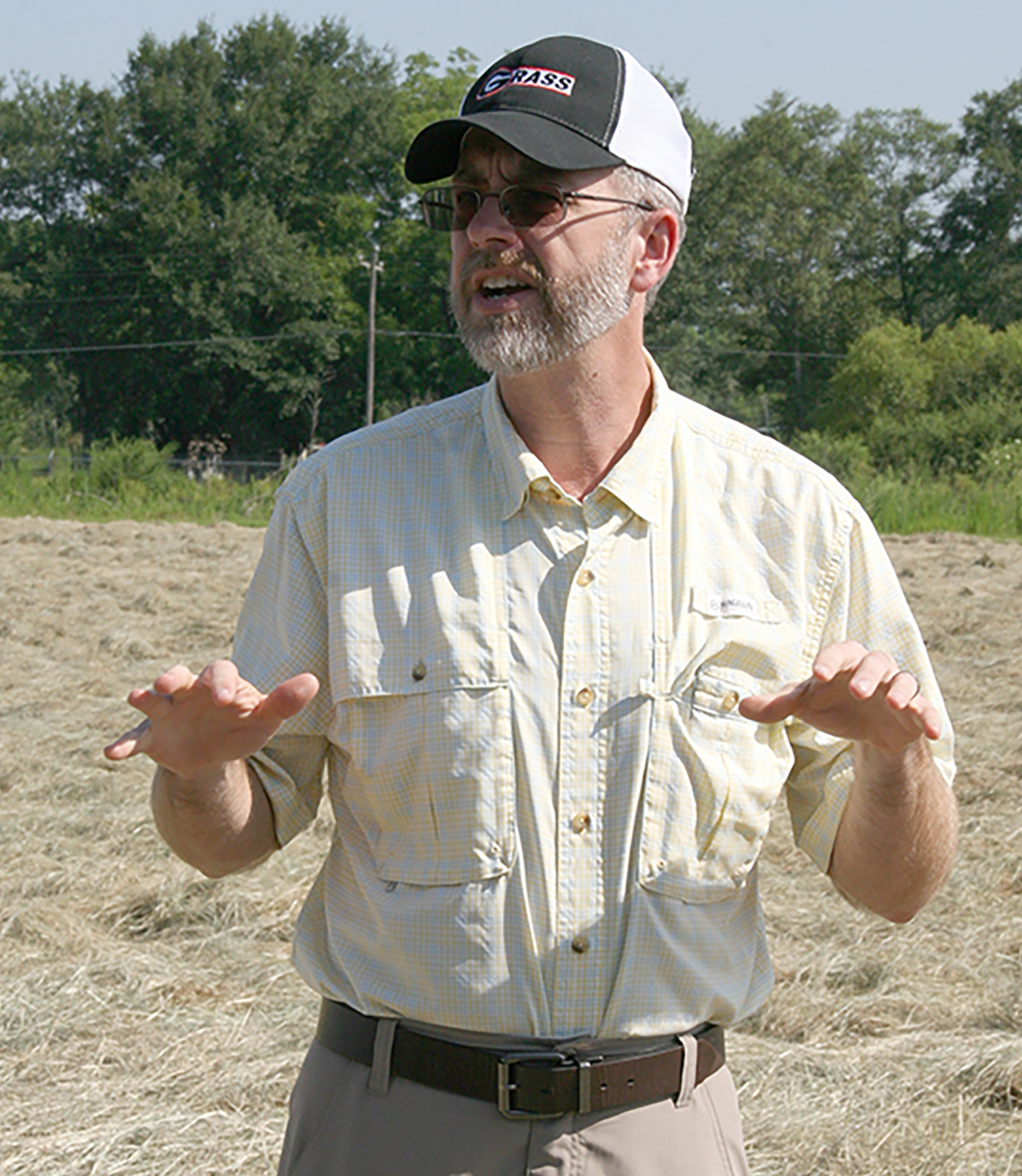 UGA Forage Extension Specialist Dennis Hancock speaks at the Sunbelt Field Day in 2015. He is among the scheduled presenters during this year's field day on July 25, 2019.