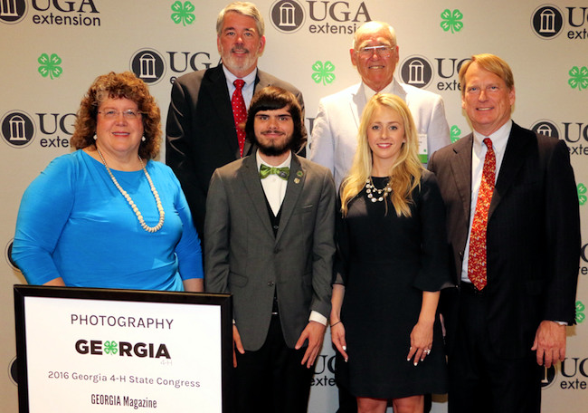 Christopher Morgan (center) is among the newest crop of Master 4-H'ers named at the recent Georgia 4-H State Congress event in Atlanta. Morgan credits his 4-H experience for helping him overcome issues with his autism.