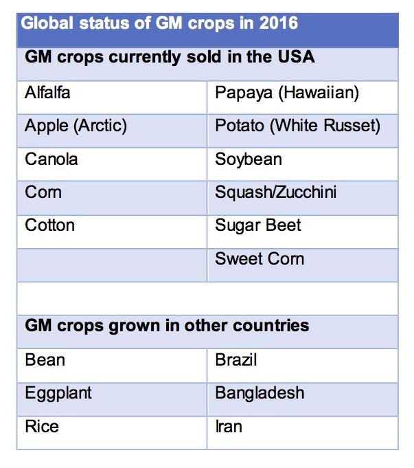 GM crops chart