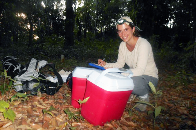 Alexandra Bentz, a poultry science graduate student at UGA, spent her summer studying the health of vampire bats in Belize.