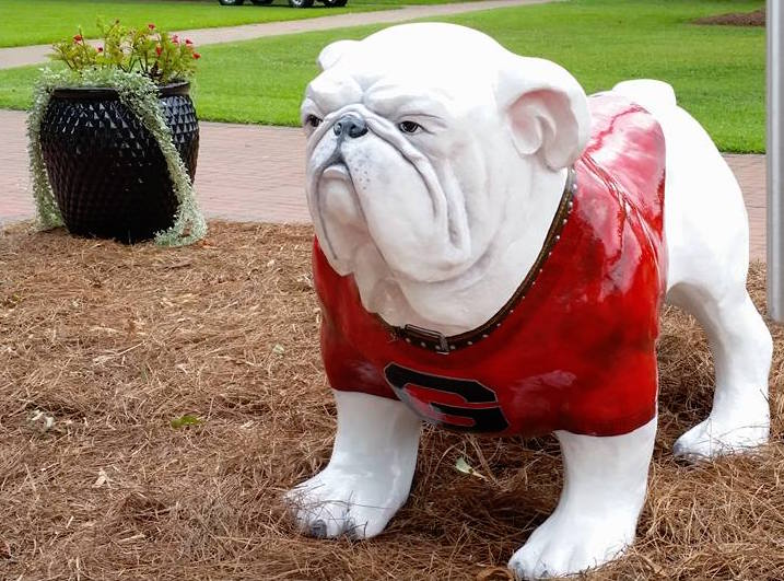 Griffin Campus Bulldog statue