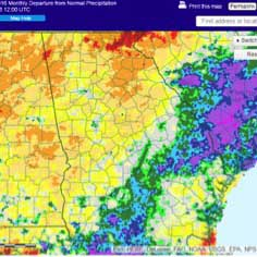 While some parts of the state received plenty of needed rain from Tropical Storms Hermine and Julia, parts of the northern half of the state experienced exceptional drought.